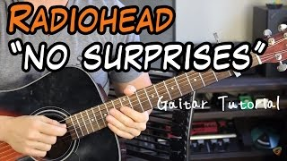 Radiohead - No Surprises - Guitar Lesson