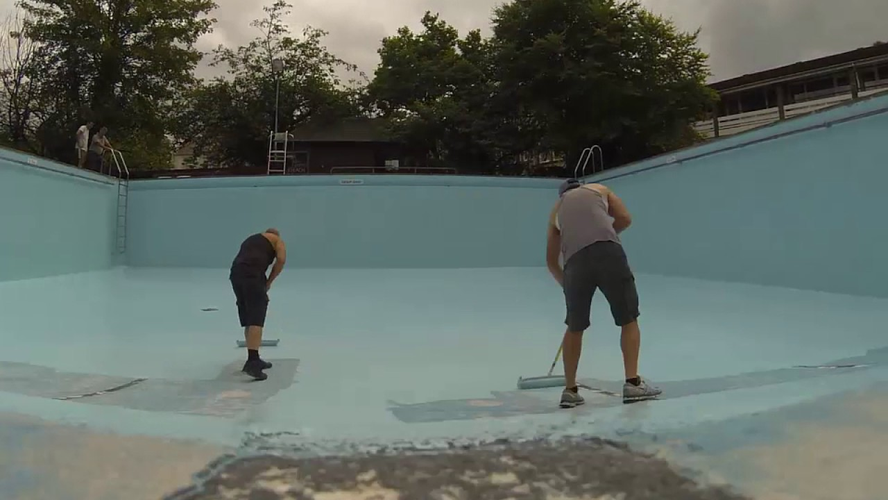 New bath hotel swimming pool painting timelapse youtube - Matlock hotels with swimming pools ...