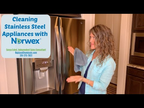 How to Clean Stainless Steel Appliances with Norwex Stainless Steel Cloth