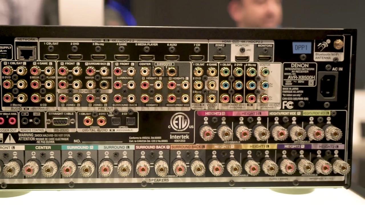 CES 2018: Denon AVR-X8500H 13-channel A/V receiver | Crutchfield video