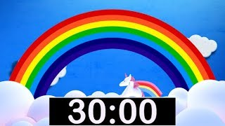 Video Rainbow Timer 30 Minute Countdown with Music for Kids! download MP3, 3GP, MP4, WEBM, AVI, FLV November 2018