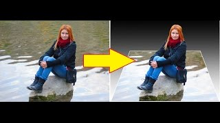 Урок по Photoshop CS5: Как сделать 3D объект. Эффект выхода из фото. How To Make 3D Photo Effect .