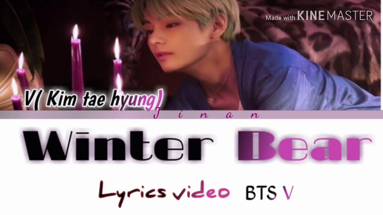 bts v kim tae hyung winter bear color coded lyrics. Black Bedroom Furniture Sets. Home Design Ideas