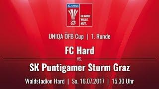 Spielaufzeichnung: FC Hard 0:3 Sturm Graz (0:0) | UNIQA ÖFB Cup 2017/18