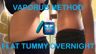 TESTING VICKS VAPORUB FOR WEIGHT LOSS OVERNIGHT | DOES IT REALLY WORK?