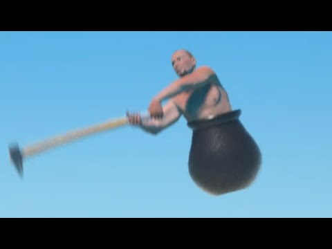 i return to getting over it to beat the game |