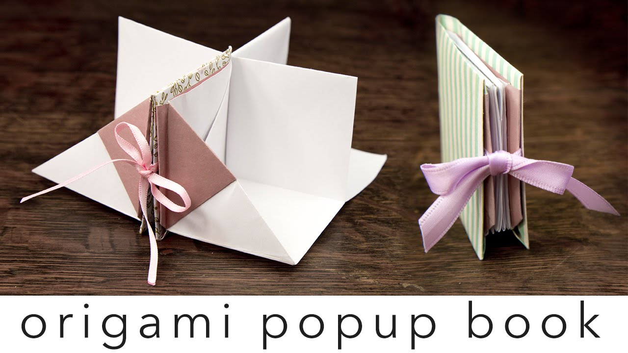 origami popup book tutorial ��� diy ��� crafts ��� youtube