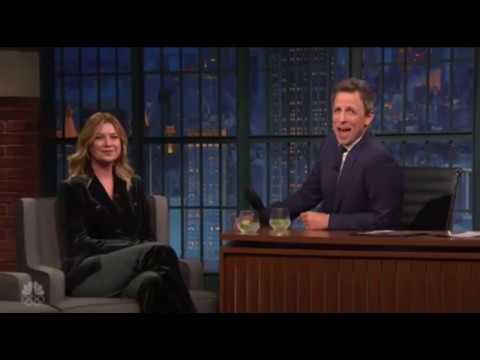 ellen pompeo on late night with seth meyers
