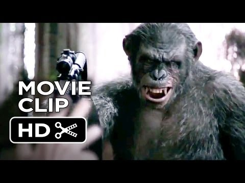 Dawn Of The Planet Of The Apes Movie CLIP - Koba's Weapon (2014) - Andy Serkis Movie HD