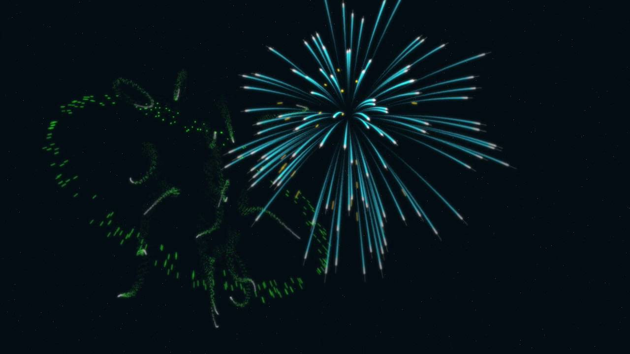 hight resolution of fireworks animation