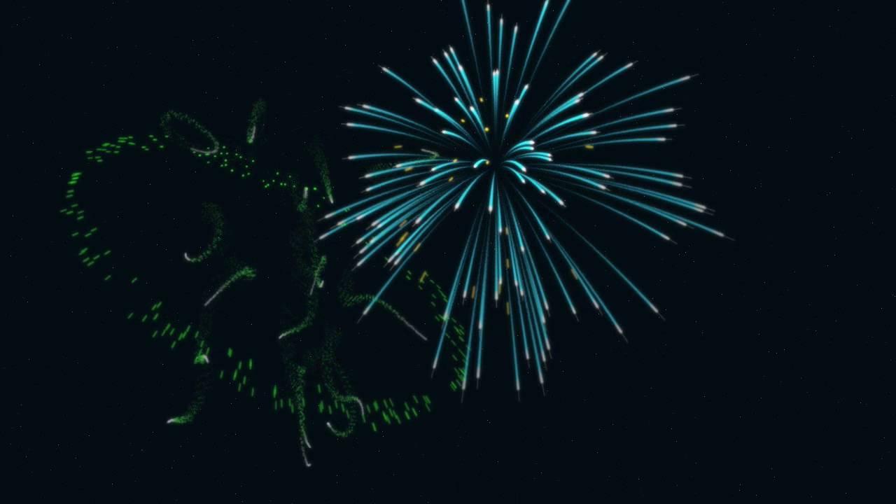fireworks animation [ 1280 x 720 Pixel ]