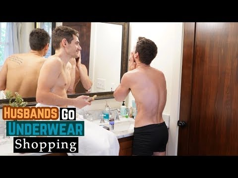 HUSBANDS GO UNDERWEAR SHOPPING  | GAY COUPLE | PJ AND THOMAS