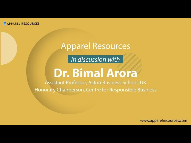 Dr. Bimal Arora of ABS discusses Redefining Sustainability in #Apparel Industry in #COVID19 Phase