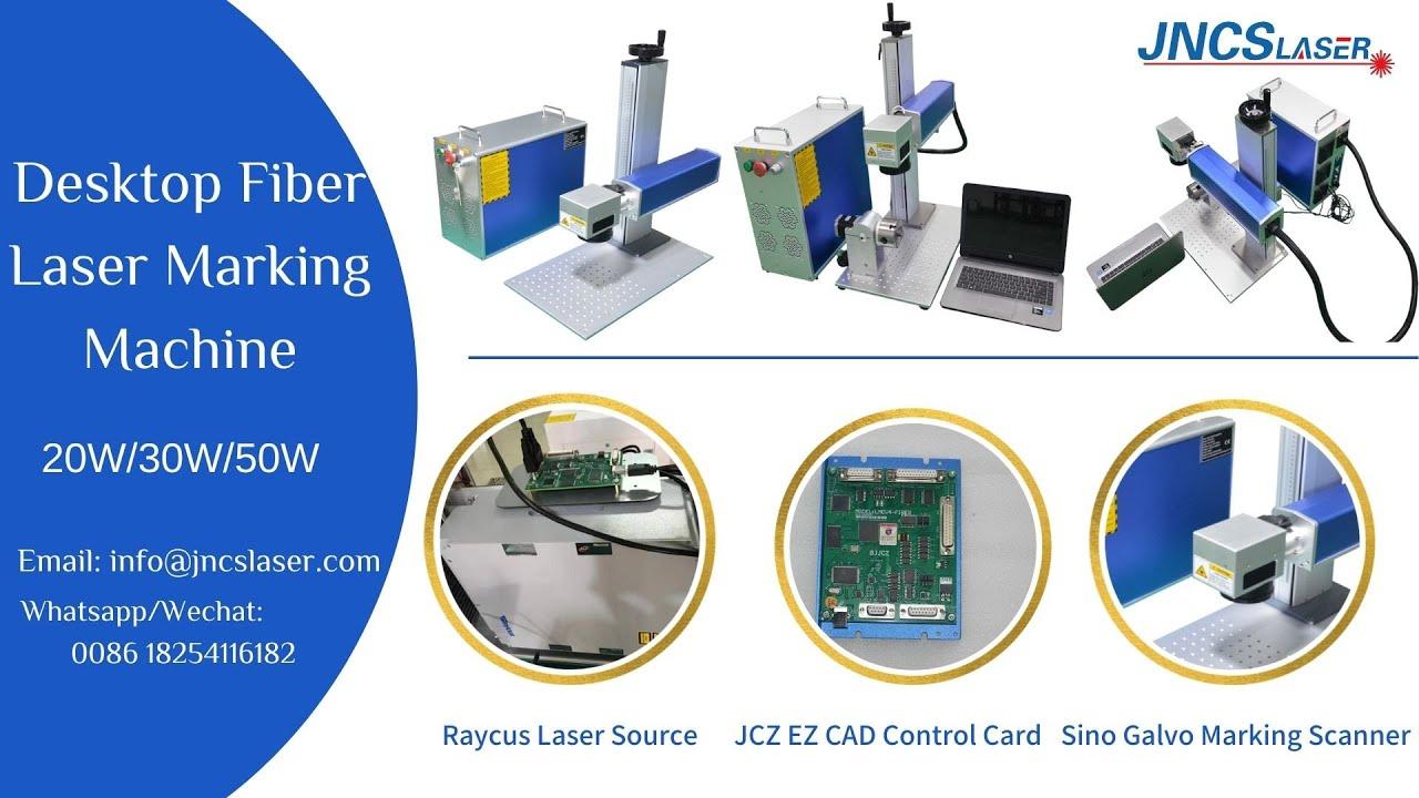 Desktop Fiber Laser Marking Machine With 20w 30w Youtube