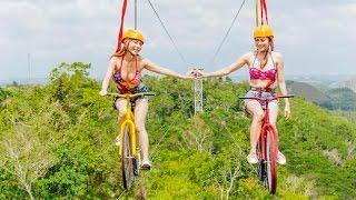 worlds first bike zipline chocolate hills adventure park bohol philippines travel