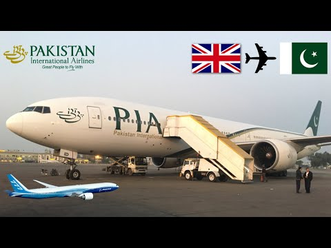 In flight cockpit visit! Flight review PIA B777-300ER AP-BID Manchester to Islamabad 19/11/2017