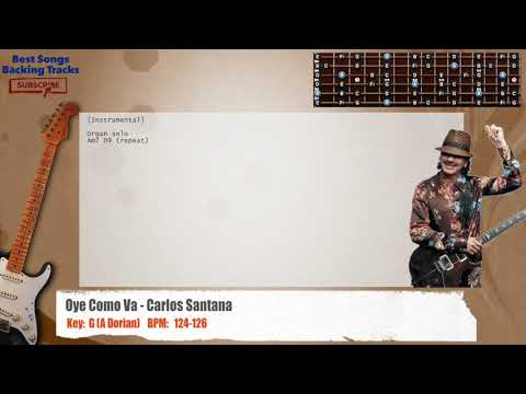 Oye Como Va - Carlos Santana Guitar Backing Track with chords and lyrics
