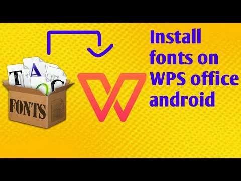 How To Add Any Fonts On WPS Office Android 2018 YouTube