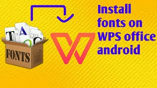 Gambar cover How to add any fonts on WPS office android||2018