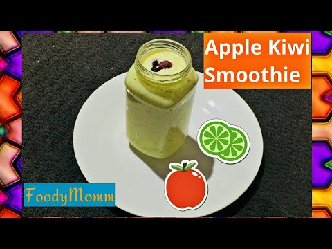 SUGARFREE APPLE KIWI SMOOTHIE | HOW TO MAKE APPLE KIWI SMOOTHIE | HEALTHY SMOOTHIE RECIPE