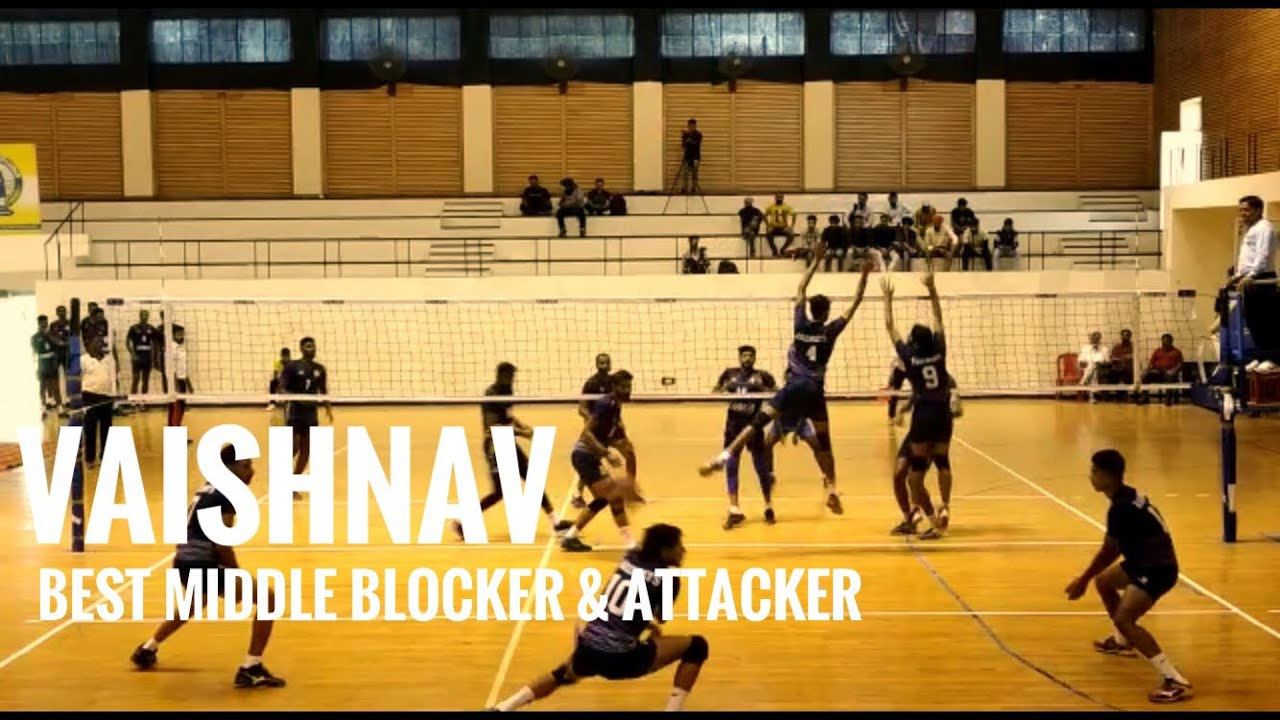 Vaishnav Best Attacker And Middle Blocker Federation Cup 2019 Youtube