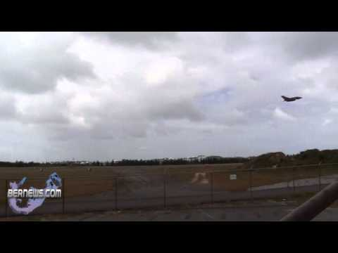 Military Aircraft Take Off From LF Wade International Airport Bermuda May 8 2011