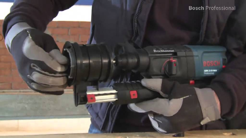 Bosch Absaughammer Gbh 2 23 Rea Professional Youtube