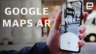 "Google Maps new ""Global Localization"" is a form of augmented reality that combines street view data with GPS position and your phone's camera to determine ..."