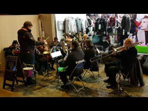 Norwich Christmas lights switch-on 2017 - brass band playing Good King Wenceslas