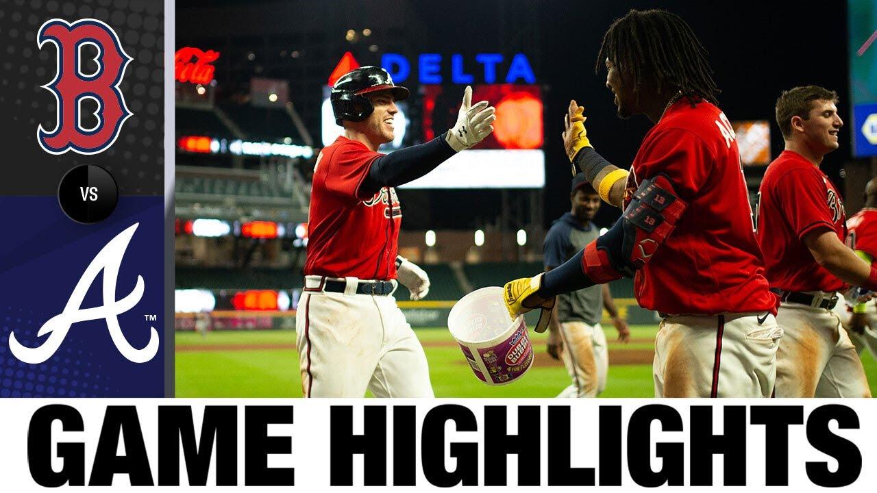 Freddie Freeman walks off, Braves clinch No. 2 seed | Red Sox-Braves Game Highlights 9/25/20