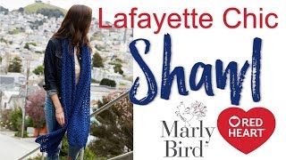Beginner Crochet Lace Made Easy: Lafayette Chic Shawl [Left Handed]