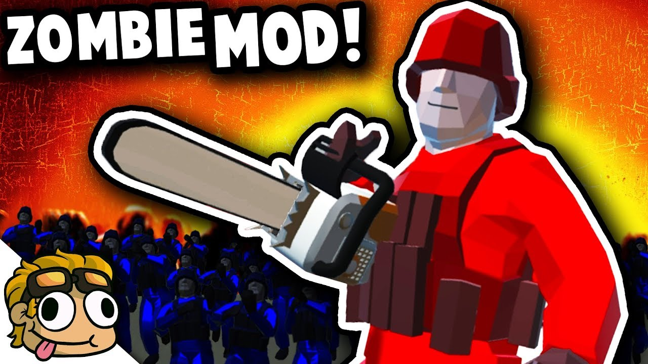 ZOMBIE GAMEMODE MOD w/ CHAINSAW! | Ravenfield Best Mods Gameplay (Early  Access 11)