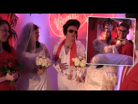 WATCH: A bizarre chapel appeared in Dublin today where couples tie the knot for a 30 day marriage