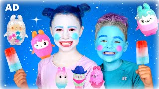 Magical Monster Make-up and Costumes! Kids pretend play with I Dig Monsters!