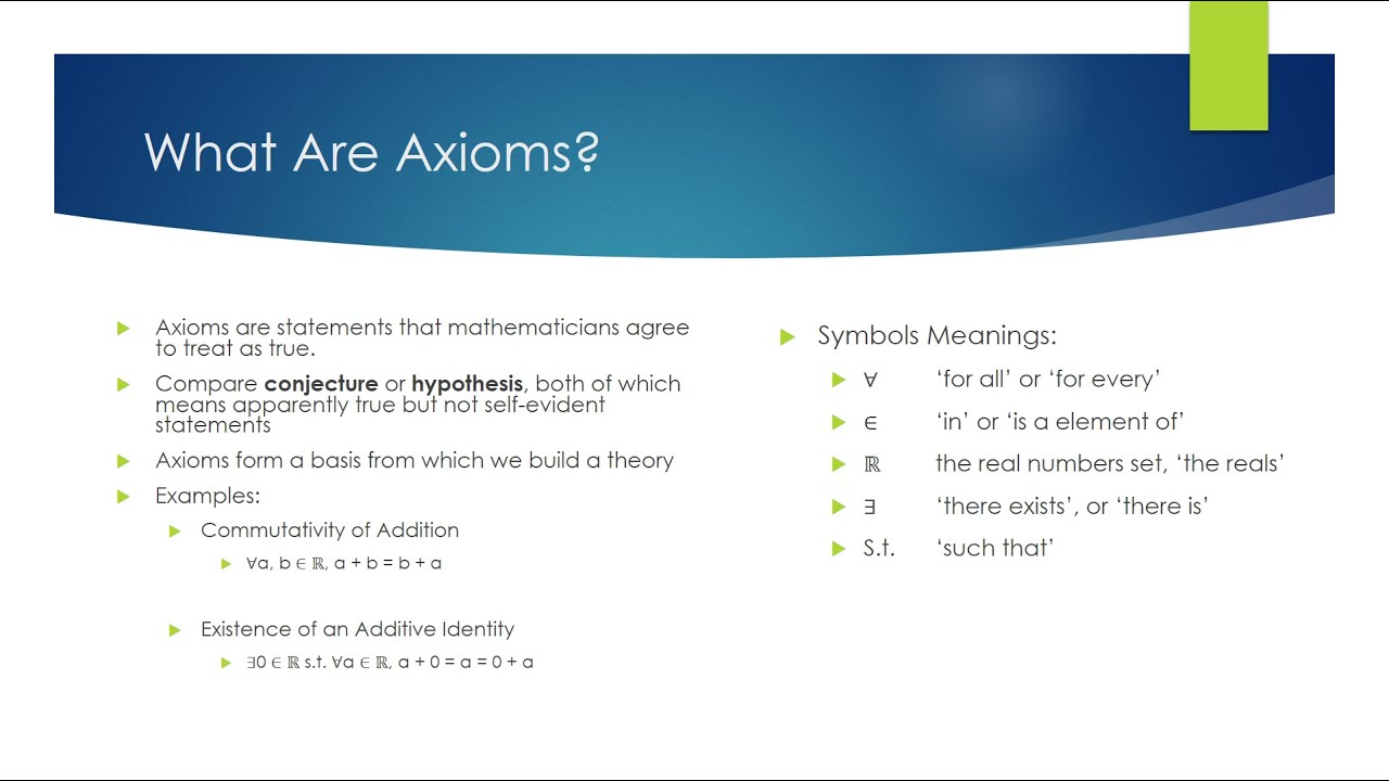 What are axioms youtube what are axioms biocorpaavc Images