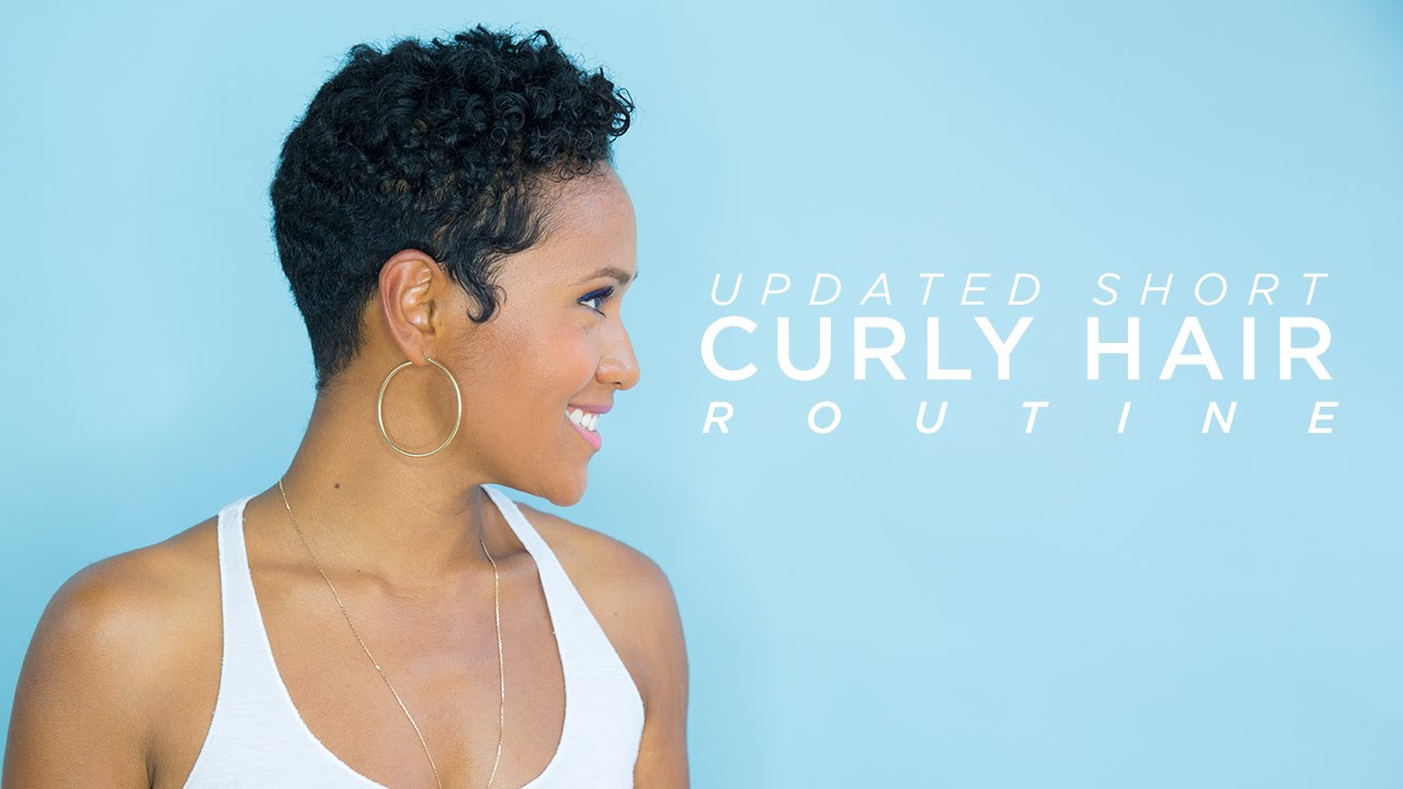 Updated Short Curly Hair Routine Youtube