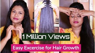 Easy Exercises For Extreme Hair Growth & Cure Baldness | Sushmita's Diaries