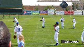 Warm Ups/practicing Throwing & Catching - Road Dogs Game - Joliet, Il 2010 (hd)
