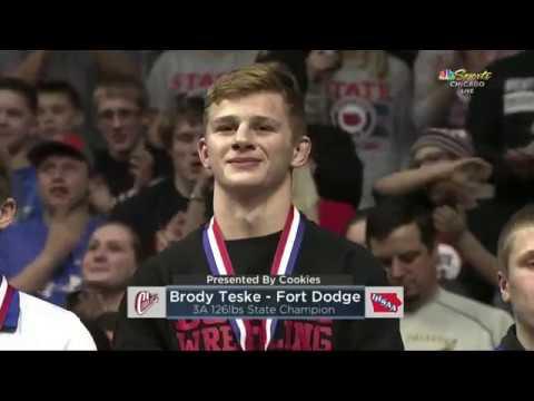 Brody Teske Of Fort Dodge Wins His Fourth Iowa High School Wrestling State Title
