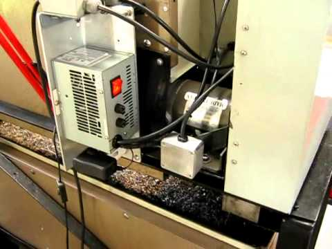 Chinese lathe with variable speed conversion using a DC treadmill motor and KBIC240 controller