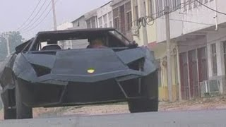 Chinese man creates own Lamborghini out of iron and an old van