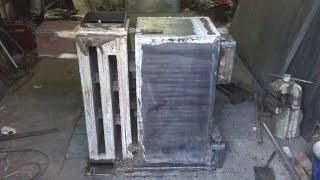 Котёл твердотопливный самодельный начало 1. Self made solid fuel boiler. Part 1.
