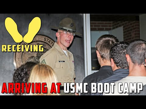 Receiving Phase of Marine Corps Boot Camp on Parris Island
