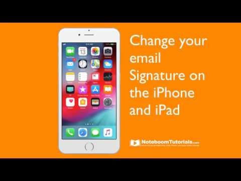 Changing Your Mail Signature On Your IPhone Or IPad