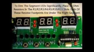 Modifying Your Digital Clock Kit For Higher Input Voltage & Dimmer LEDS.wmv