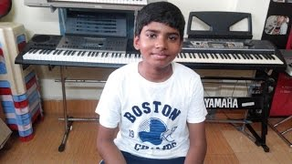 Andam Hindolam Remix From Supreme Movie On Keyboard By Tejesh