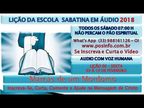 SEXTA 09/02/2018, Marcas de um Mordomo, 06, ESC. SAB., 2018, EM ÁUDIO, VOZ HUMANA