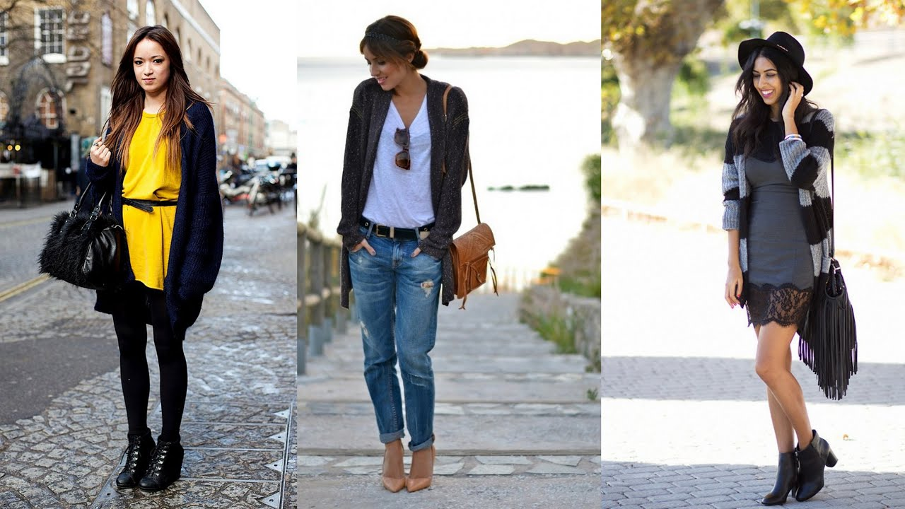 Cardigan Outfit Ideas - YouTube