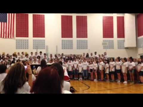 matawan Aberdeen middle school sing a mighty song