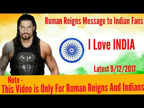 WWE Live India 9/12/2017 - Roman Reigns Special Message to WWE Indian Fans ..